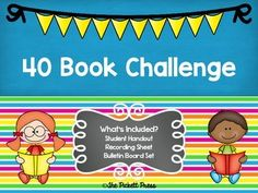 40 Book Challenge Bulletin Board 40 Book Challenge, Book Whisperer, 5th Grade Reading, Book Study, Chapter Books, Library Ideas, 5th Grades, Board Ideas, Bulletin Boards