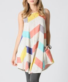 Love this Ivory Zigzag Pocket Swing Top - Plus on #zulily! #zulilyfinds