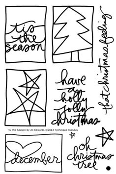 Tis The Season stamps for Technique Tuesday by Ali Edwards