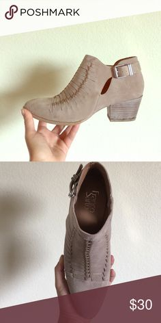 Booties Hardly worn cute neutral booties!! Franco Sarto Shoes Ankle Boots & Booties
