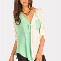 Orbit Blouse - Mint cute