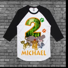 Lion Guard Birthday Shirt Lion Guard Shirt by FashionistaStylez