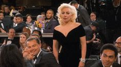 Greatest GIF of 2016 Golden Globes: Leonardo DiCaprio Not Gaga for Lady Gaga