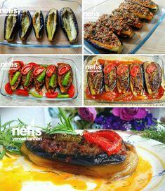 Parmak Yedirten Muhteşem Karnıyarık Tarifi nasıl yapılır? 2.263 kişinin defterindeki bu tarifin resimli anlatımı ve deneyenlerin fotoğrafları burada. Yazar: Nesli'nin Mutfağı Turkish Kitchen, Eastern Cuisine, Middle Eastern Recipes, Turkish Recipes, Iftar, Pie Recipes, Eggplant, Zucchini, Food And Drink