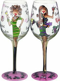 """Bottom's Up 15-Ounce Perfectly Paired Handpainted Wine Glass by 95 and Sunny. $19.99. Each glass is boxed in its own distinctive gift box. Hand painted 15-ounce wine glass. Pictures show same glass front and back. Bottom's Up """"Perfectly Paired"""" Hand Painted 15-ounce Wine Glass. Celebrate with this festive hand painted wine glass. It is appropriate for either red or white wine. The oversized 15-ounce capacity allows plenty of space for the wine to breathe, allowing its full ..."""
