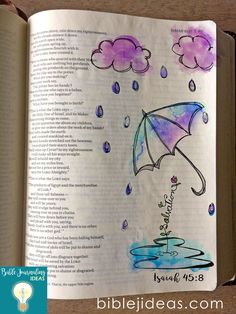 Bible Journaling Ideas-Umbrella