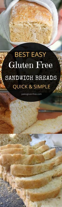 Easy gluten free bread recipes. Gluten free vegan bread.