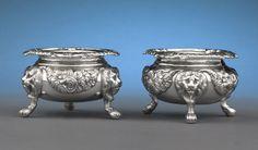 Antique Silver, Paul Storr, Salt Cellar, Georgian Silver, English Silver ~ M.S. Rau Antiques