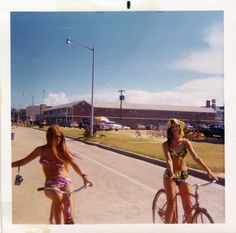 Girls on bicycles, summer 1972