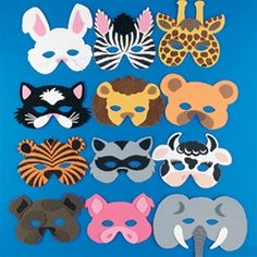 These foam animal masks could be incorporated many ways into a jungle or safari themed #VBS. Use them as decorations or use them for a fun kid's activity #VBS #partycheap