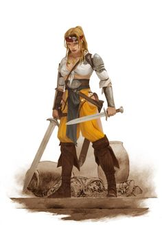 ArtStation - Valeria-character for 'Conan' board game, adrian smith #fighter