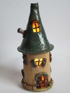 lichterhaus von handgetöpfert made by liz auf DaWanda.com