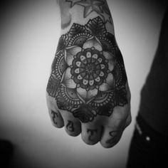 Hand Tattoo Style #tattoo #hand #flower