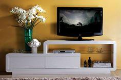 Venta Muebles lacados contemporáneos / 22931 / Muebles de TV / Mueble TV 2 Cajones - Blanco Lacado