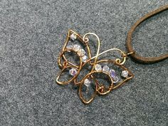 Butterfly pendant - How to make wire jewelery 172
