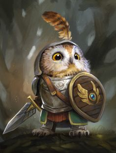 Knight Owl from Humblewood by Illustrator and Concept Artist leeshahannigan - - illustration owlart digitalart digitalillustration characterdesign 3d Fantasy, Fantasy Kunst, Fantasy Artwork, Fantasy Races, Fantasy Character Design, Character Inspiration, Character Art, Character Concept, Dnd Characters