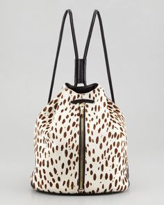 Snow leopard, ponyhair backpack from Elizabeth and James -- perfect