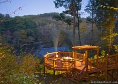 Blue Ridge Mountains Georgia - This is called The Rivers Edge. What a fabulous cabin on the Toccoa River