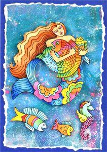 Laurel Burch Mermaid Fish