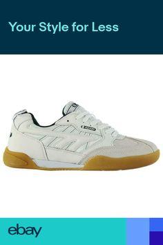 Hi Tec Mens Squash Trainers Hi-Tec Leather Squash Shoes - White Green a9dace403