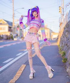 Quick shoot during the winter sunset. Quick shoot during the winter sunset. Pastel Goth Outfits, Pastel Goth Fashion, Kawaii Fashion, Grunge Outfits, Cute Fashion, Girl Fashion, Fashion Outfits, Gothic Fashion, Tokyo Street Fashion
