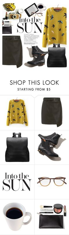 """""""into the sun"""" by punnky ❤ liked on Polyvore featuring Garrett Leight and Bobbi Brown Cosmetics"""