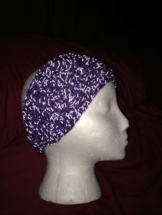 RELFECTIVE PURPLE Crochet Unisex Teen/Adult headband earwarmer fits most adults #homemade #earwamerheadband #reflective #pmscrafts74