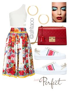 """""""Sin título #252"""" by afritaoo ❤ liked on Polyvore featuring Dolce&Gabbana, Elizabeth and James, Gucci and Carvela"""