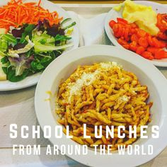 I don't know about you, but I love hearing about foods from all over the world. In this post, you will learn about school lunches from around the world. School Lunches, Nutrition Education, Esl, Around The Worlds, Healthy, Food, Meals, Health, Yemek