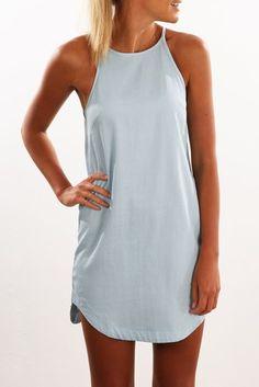 Ashlee Dress Blue