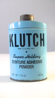 Vintage Dental Tin Klutch Denture Powder Holds by NevermoreGifts, $16.95