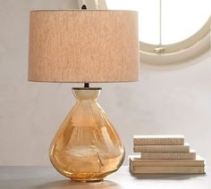 The prettiest way to light the night- Alana Luster Glass Table Lamp Base