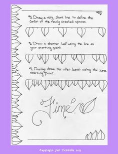 How To Draw a Leaf Border