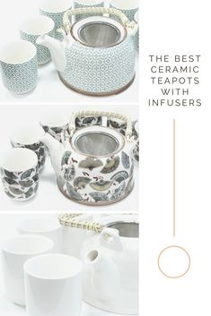 the best herbal teapots with infuser and six herbal tea mugs. Eco friendly teapots gifts for tea lovers. Organic Loose Leaf Tea, Aromatherapy Candles, Ceramic Teapots, Herbal Tea, Tea Mugs, Drinking Tea, Herbalism, Eco Friendly, Lovers