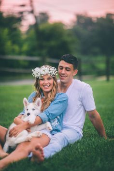 of July Inspired Engagement Photo Shoot + DIY Cherry Cobbler Bake from CJK Visuals Couple Photography, Engagement Photography, Animal Photography, Wedding Photography, Photography Ideas, Photos With Dog, Family Photos, Dog Wedding, Dream Wedding