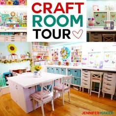Craft Room Tour: My Organization and Storage Projects - Jennifer Maker Nutrition Education, Living Room Small, Playstation Plus, Video Motivation, Diy Home Decor Rustic, Survival, Diy And Crafts Sewing, Bath And Beyond Coupon, Room Tour