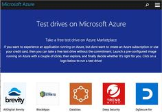 Azure Test Drives gives developers the ability to test out apps in the cloud without any commitment whatsoever.
