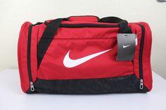 Nike small unisex duffel gym bag red 20