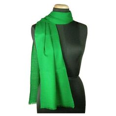 NOVICA Artisan Crafted Wool Scarf from India ($33) ❤ liked on Polyvore featuring accessories, scarves, clothing & accessories, green, solid, woven scarves, wool scarves, wool shawl, green scarves and woolen shawl