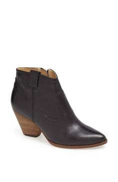 Free shipping and returns on Frye 'Reina' Bootie at Nordstrom.com. A blocky heel and almond toe amp up the versatility of a Western-inspired bootie, made even easier with a slick side zip.