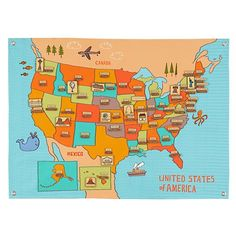 Road Trip Soft Wall Map    The Land of Nod