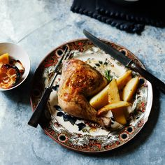 In this perfect roast chicken recipe, lemon zest and rosemary permeate the meat as it cooks and give a subtle Mediterranean accent to the pan juices.