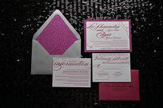 glitter wedding invitations   pink glitter wedding invitation, envelope liners, glitter envelope ...