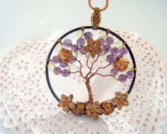Tree of Life Vintage Copper Flowers by CandiSuesCreations