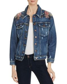 BLANKNYC Studded Embroidered Faux Leather Motorcycle Jacket - 100% Bloomingdale's Exclusive | Bloomingdales's