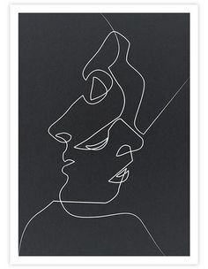 THE PRINTClose Noir is the most iconic of French artist Quibe's minimalist single line illustrations. This stunning art print works beautifully in modern and Scandinavian influenced interiors. It has been produced on heavy weight art s...
