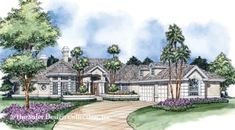 The Broadmoor Walk House Plans First Floor Plan - House Plans by Designs Direct.