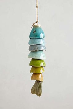 I think this ceramic fish is cool looking and reminds me of a wind chime.