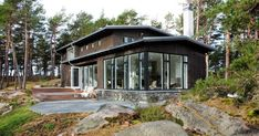 Vilt og vakkert i skjærgården Best Flats, Archipelago, Home Office, Building A House, Gazebo, Scandinavian, Sweet Home, Outdoor Structures, House Design