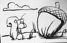 Inktober Day 22: Little #inktober #inktober2016 #manuscriptinktober2016 #airshipinktober2016 #kuretakeinktober2016 @artistsnetwork @kuretakezig_usa